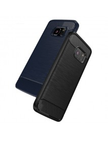 Bakeey Dissipating Heat TPU Carbon Fiber Shockproof Back Case for Samsung Galaxy S7 Edge