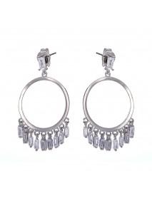 Trendy Platinum Hoop Earrings Fashion Tassel Long Earring Drop Gifts for Girl Women