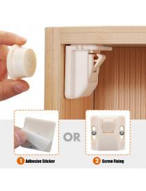 10Pcs Magnetic Cabinet Locks Drawer Cupboard Door Locks Child Kids Baby Safety Lock + 2 Keys
