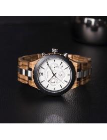 BOBO BIRD R22 Ultra Thin Chronograph Men Wrist Watch Wooden Creative Quartz Watch