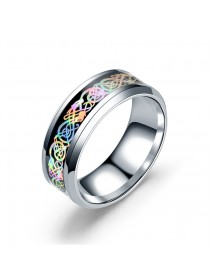 Fashion Stainless Steel Dragon Pattern Ring Multicolor Couple Rings for Her Him Gift
