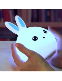 DecBest Cute Rabbit Night Light Touch Color Change USB Charging LED Lamp Home Decor