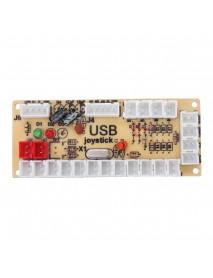 Colorful LED Joystick Push Button USB Encoders Arcade Game Controller DIY Kit