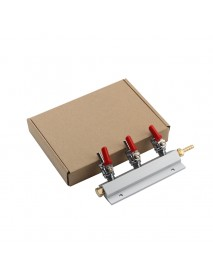 3 Way CO2 Gas Distribution Block Manifold With 7mm Hose Barb Wine Making Tools Draft Beer Dispense