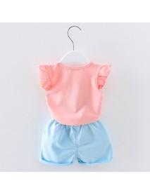 Kids Children Baby Tops+Shorts Set