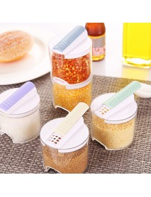 5pcs/Set Spice Jar Pepper Shaker Box Creative Transparent Seasoning Cans Kitchen Storage Container