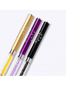 New Double-ended UV Gel Nail Brush Ultra-thin Line Drawing Pen Rhinestone Nail Art Manicure DIY Tools Gold/ Purple/ Black