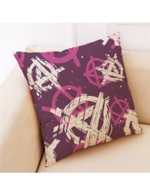 Concise Style Printed Cotton Pillow Case Square Decoration  Cushion Cover