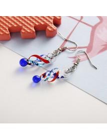 Fashion Crystal Glass Tornado Shape Pendant Necklace Earrings for Women
