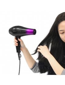2800W 220V Hair Dryer with Accessories Black Purple 3 Temperature Wind Gear Adjustment Hair Salon for Home Tools
