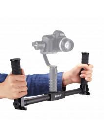 PULUZ PU369 Dual Handheld Grip Gimbal Extended Bracket Carbon Fiber Metal 3-Axis Stabilizer