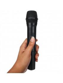 2Pcs VHF Wireless Bluetooth Karaoke Microphone Speaker 2 Handheld MIC KTV Player