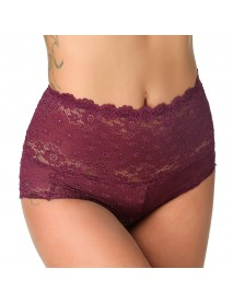 High Waist Lace Seamless Hip Shaping Super Elastic Underwear Panties