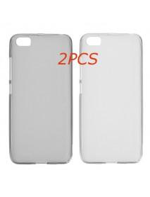 2PCS Ultra Thin Clear Translucent Soft Skin TPU Case For Xiaomi Mi5 Mi 5