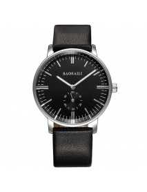 BAOSAILI BSL937 Simple Design Men Wrist Watch Leather Band Quartz Watch