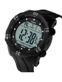 NORTH 2003 Men Watch Sport Stopwatch Alarm Silicone Strap Wrist Digital Watch