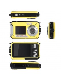 Amkov W599 24MP 2.7 Inch Double Screen Waterproof Anti Shake 16X Zoom 1920x1080 HD Camera