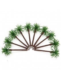 10pcs Model Palm Trees Train Coconut Rainforest Scenery Layout Scale 1:100 For Home Decorations