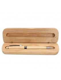 0.7mm Wooden Engraved Ballpoint Pen WIth Gift Box For Kids Students Children School Writing Gift