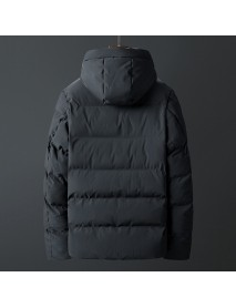 Mens Winter Thick Warm Windproof Outdoor Padded Jacket Parka