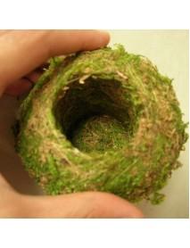 6-18cm Moss Weaved Ball Shape Flower Pot Succulent Planter Green Basket