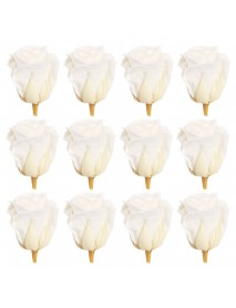 12pcs Romantic Preserved Forever Rose Flowers 3-4cm Wedding Valentine's Day Decorations