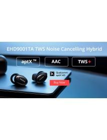 1MORE EHD9001TA TWS bluetooth Earphone QCC3020 APT Hi-Res Bass Headphone with Dual ANC Mic Balanced Armature Dynamic Headset