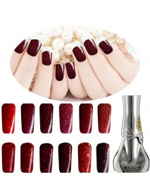 12 Colors Red Diamond Hybrid DIY UV Gel Nail Art Polish Long-lasting Soak Off LED Manicure Tools