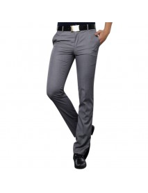 Men's Business Casual Suit Pants Summer Non-ironing Wrinkle-free Slim-fit Feet Thin Trousers