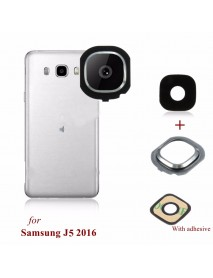 Back Rear Camera Glass Frame Holder Lens Cover For Samsung Galaxy J5 2016