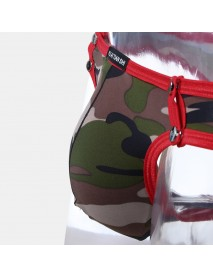 Camo Rivets Patchwork Underwear Breathable Pouch Briefs With Pouch For Men