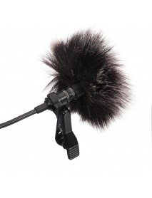 Arimic Lavalier Lapel Clip-on Omnidirectional Condenser Microphone for DSLR Camera Smartphone