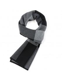 180CM Men Winter Patchwork Thicken Warm Scarves Knitting Soft Neckercheif Scarf