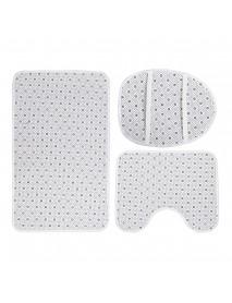 1/3/4 Pcs Lake Wolf Waterproof Shower Curtain Bathroom Toilet Cover Mat Set Non-Slip Pedestal Rug Kit