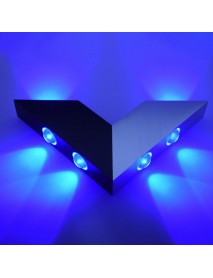 6W V Shape Creative 4 Color Light Options LED Porch Wall Bedside Light Home Bar Decorative Light