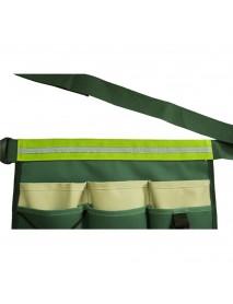Garden Worker Helper 6 Pockets Multifunctional Tool Waist Bags Woodworking Waist Belt Pack for Garden Kits with Adjustable Reflective Strip