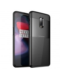Bakeey Carbon Fiber Pattern Shockproof Silicone Soft Back Cover Protective Case for OnePlus 6T