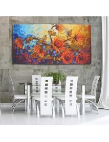 120x60cm Abstract Flower Canvas Print Art Oil Paintings Home Wall Decor Unframed