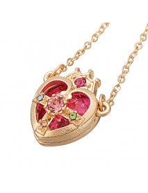 Sailor Moon Crown Ami Regresa Pendant Silver Gold Plating Gift Heart Necklace Chain