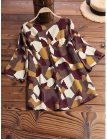 Abstract Blouse
