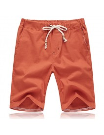 8 Colors Mens Leisure Elastic Waist Shorts Pants Pure Color Beach Sports Shorts