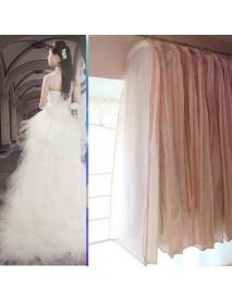 150CM Wedding Dress Storage Bag Bridal Gown Garment Cover Carrier Zip Clothes Storage Bag