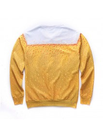 Casual Men Letter Printing Color Block O-Neck Long Sleeve Pullovers