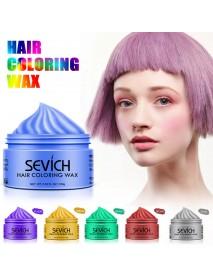 Fashion 8 Color Temporary Hair Color Wax Dye DIY Molding Mud Paste Salon Silver Grey Women Men Hair Styling Color Cream