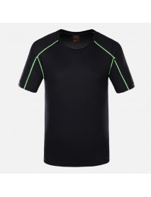 Mens Outdoor Breathable Fast Drying Short Sleeve Sport Tops