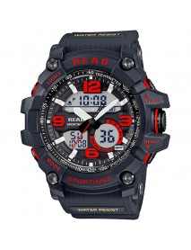 READ R90001 Dual Display Digital Watch Chronograph Waterproof Alarm Men Quartz Wrist Watch