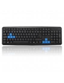 104 Keys Ultrathin Wired Waterproof Plug Keyboard for PC Game Office