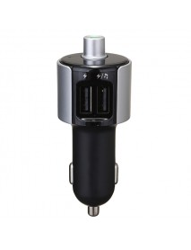 5V 3.4A Dual USB Port Car Charger Adapter For Tablet With Wireless Bluetooth