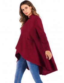 Fashion Irregular A-line Coats for Women
