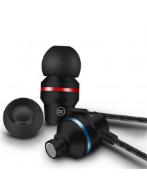 3.5mm Jack Wired Control In-ear Earphone Stereo Bass Sound Noise Reduction Sport With Mic For Phones